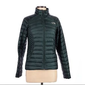 The North Face Dark Teal Puffer Jacket • XS